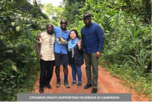 CPOOMOR (RIGHT) SUPPORTING FACEBOOK IN CAMEROON